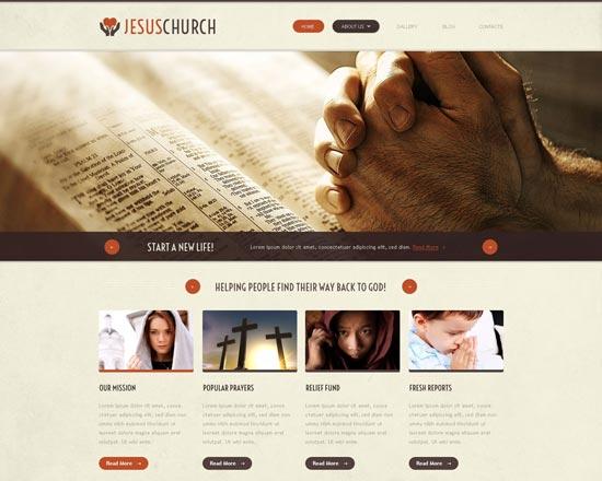 religious responsive website template 52974