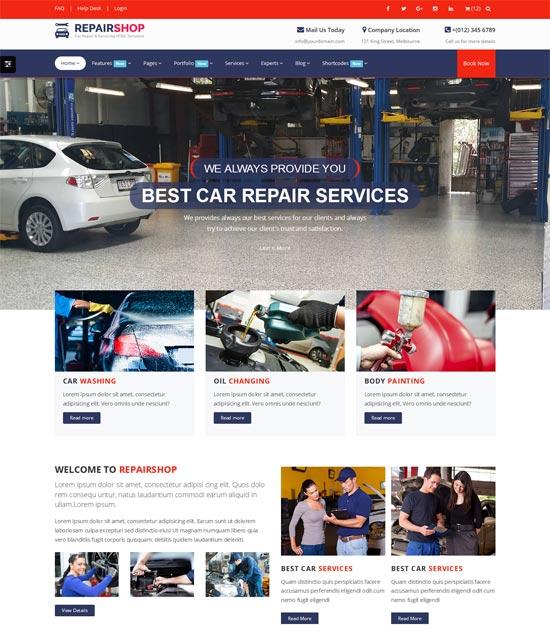 repairshop car wash responsive html5 template