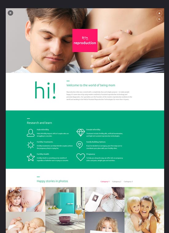 reproduction clinic joomla template