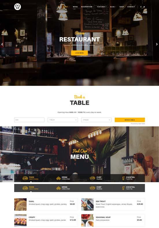 resca joomla restaurant template