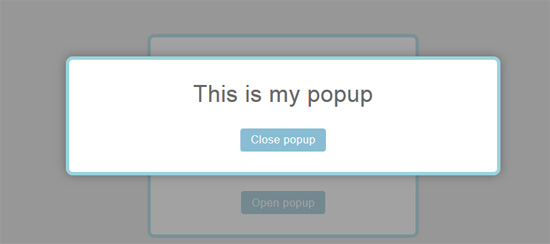 responsive css and js pop-up