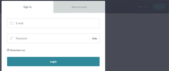 responsive login modal window