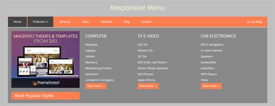 responsive mega menu