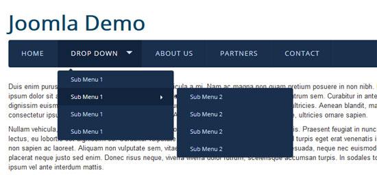 responsive menu module for joomla