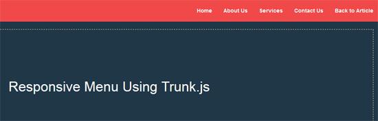 responsive menu using trunk