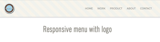 responsive menu with logo