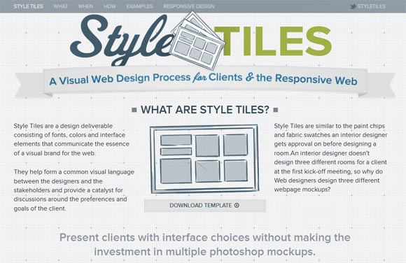 Style Tiles Responsive Web Design Examples