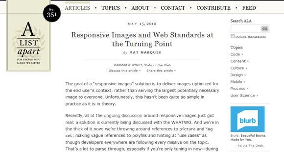 Responsive Images and Web Standards at the Turning Point