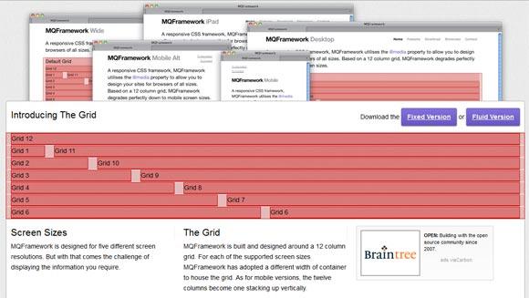 MQFramework Responsive Web Design