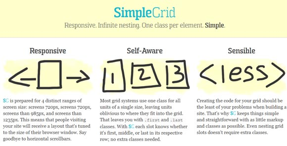 SimpleGrid Responsive Web Design