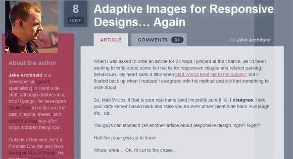 Adaptive Images for Responsive Designs