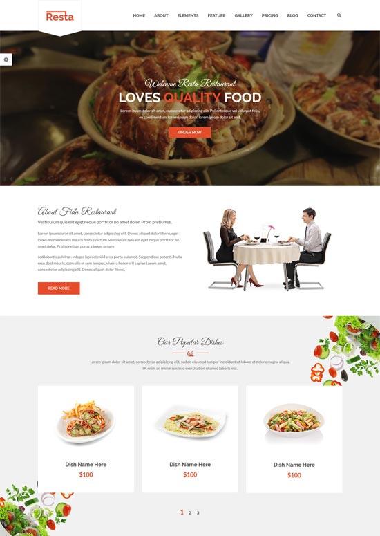 resta restaurant html template