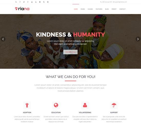 riana responsive charity template