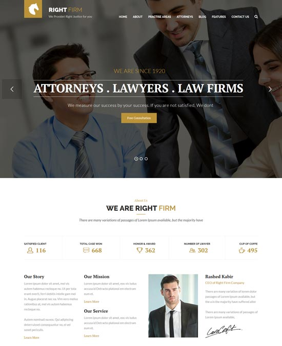 rightfirm law html template