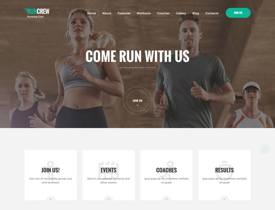 runcrew running club sports theme