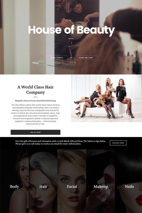 salon hair beauty salons wordpress theme
