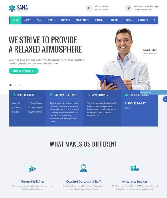 sana-medical-website-template