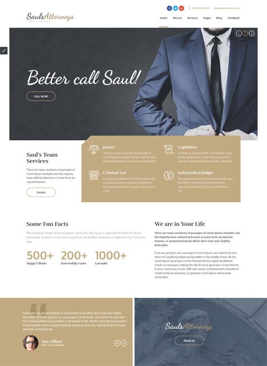 saulsattorneys lawyers html template