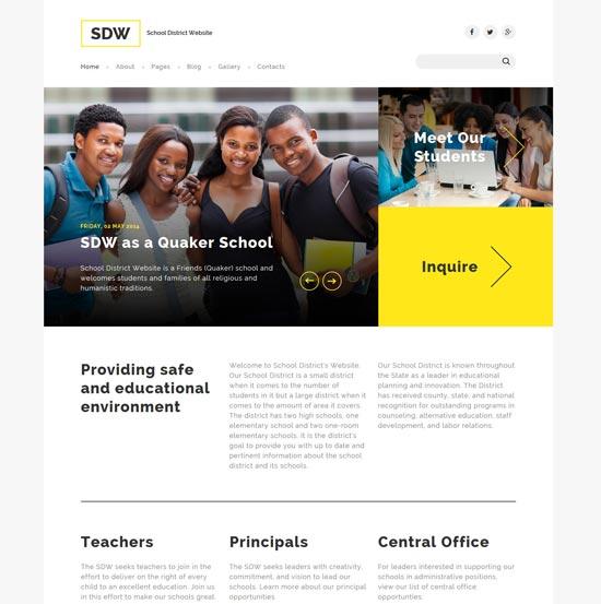 sdw education joomla template
