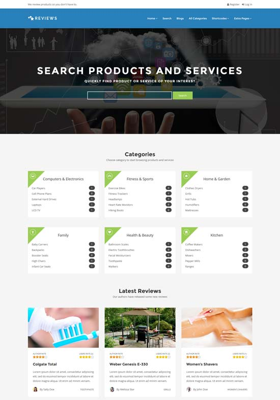 services review wp theme