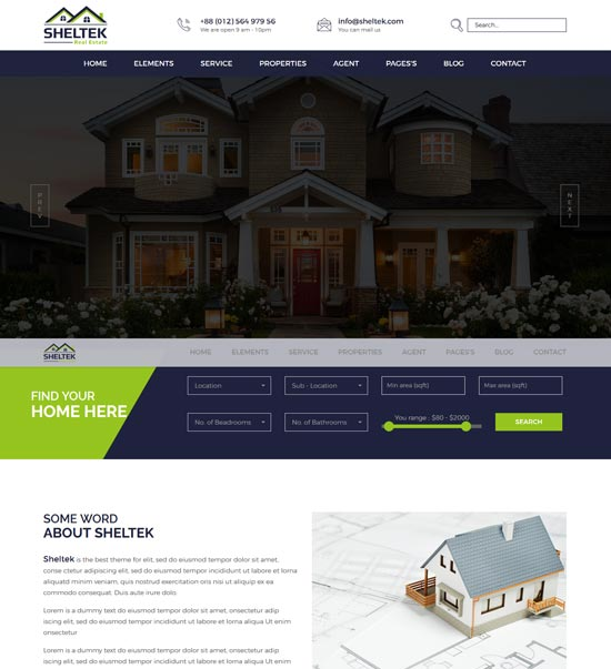 sheltek real estate responsive template
