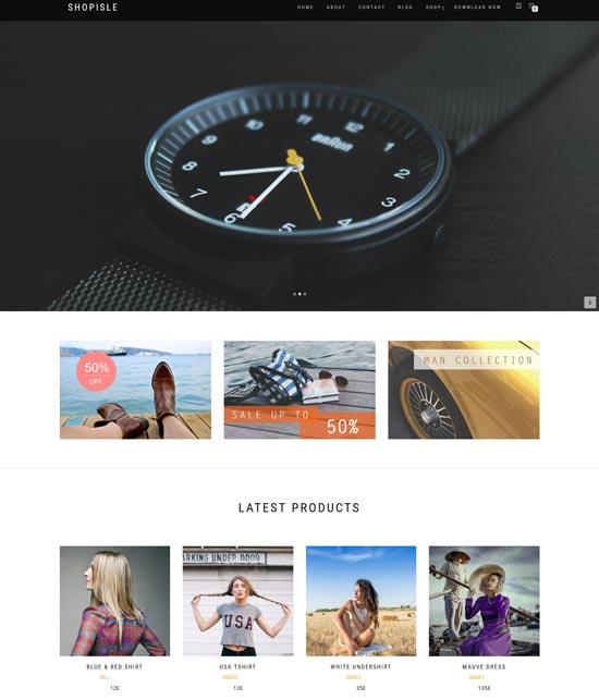shopisle-free-ecommerce-wordpress-theme
