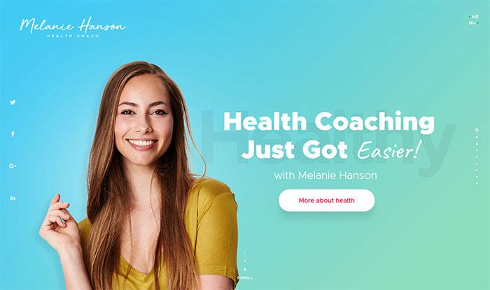 Health Coach Personal Portfolio WordPress Theme