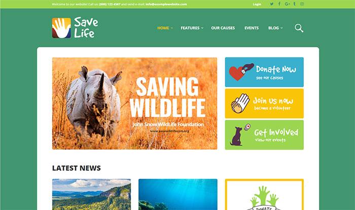 SaveLife - Charity Organization WordPress Theme