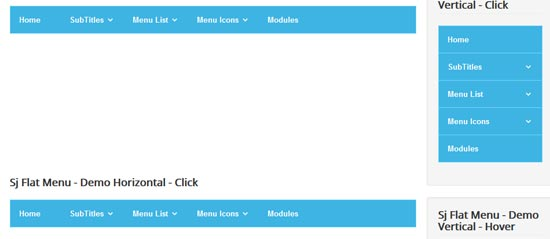 sj flat menu free responsive joomla module