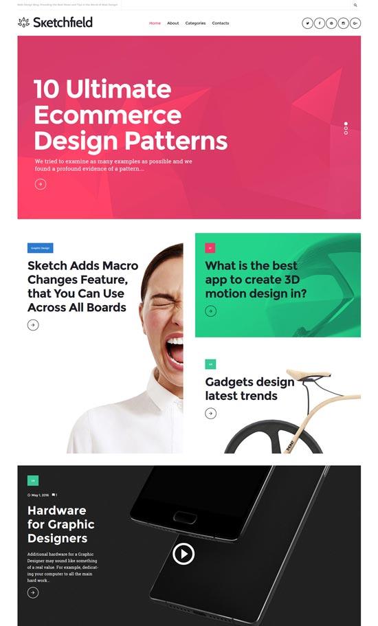 sketchfield web design theme