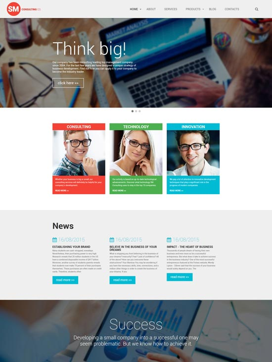 sm consulting co website template