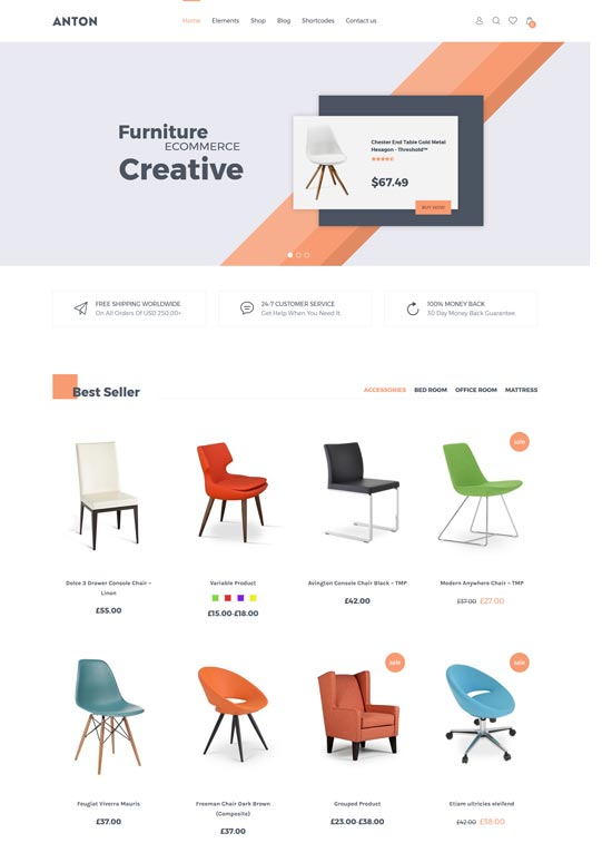 sns anton furniture woocommerce wordpress theme