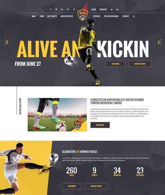 soccer acumen football club html template