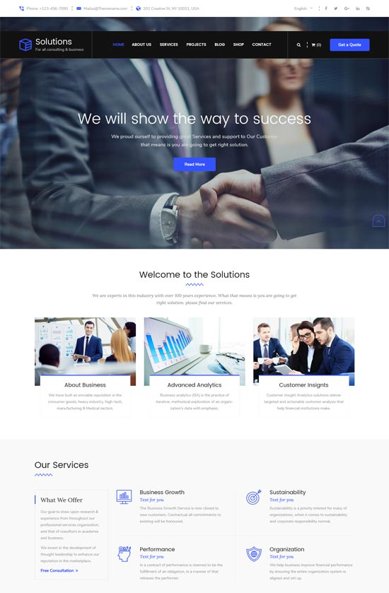 solutions consulting services html template