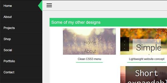 some more ideas slide menu