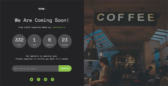 50 Free Coming Soon Under Construction Html Templates Freshdesignweb