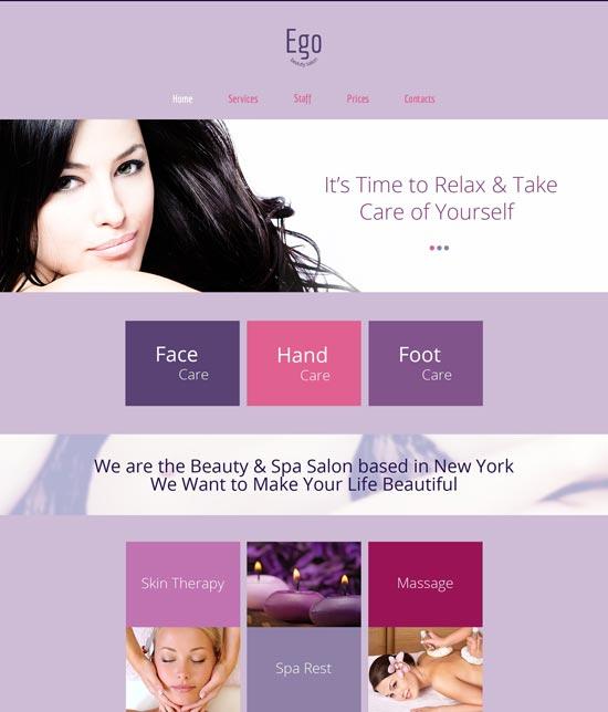 spa salon responsive html5 theme