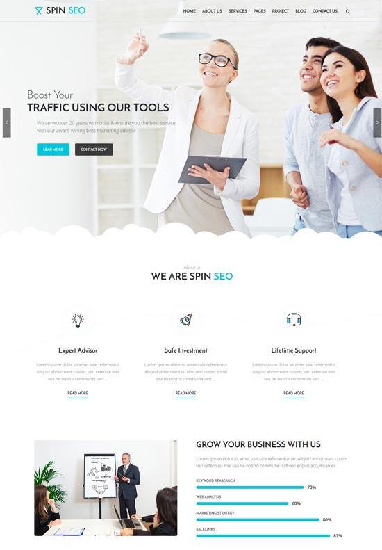 spin seo business wordpress theme