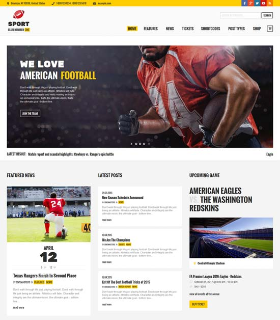 sports club football soccer sport news theme