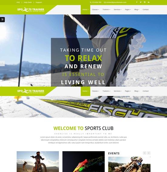 sportstrainer sports trainer html5 theme