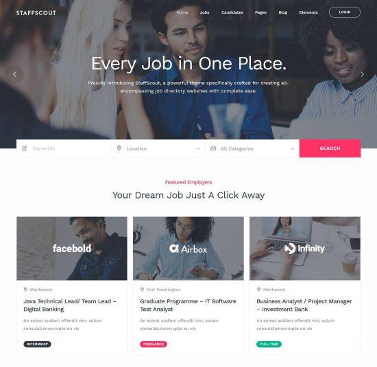 staffscout job board wordpress theme