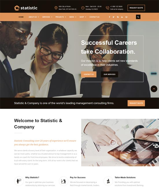 statistic consulting business html5 template