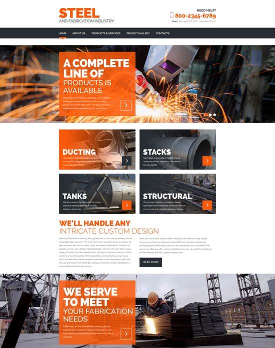 steel-website-template