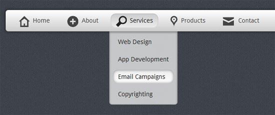 Create a stunning menu in CSS3