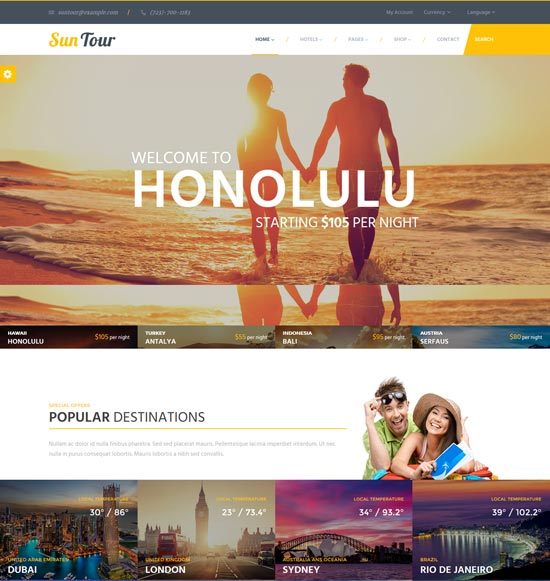 suntour travel agency html template