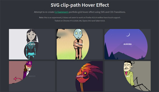 svg clip-path hover effect