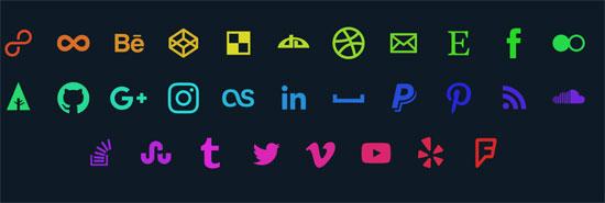 svg social media icons