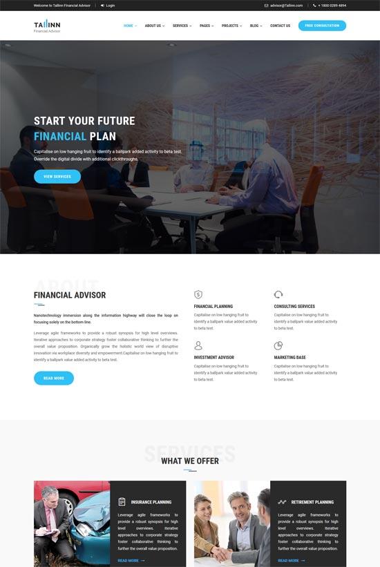 tallinn finance consultancy html template