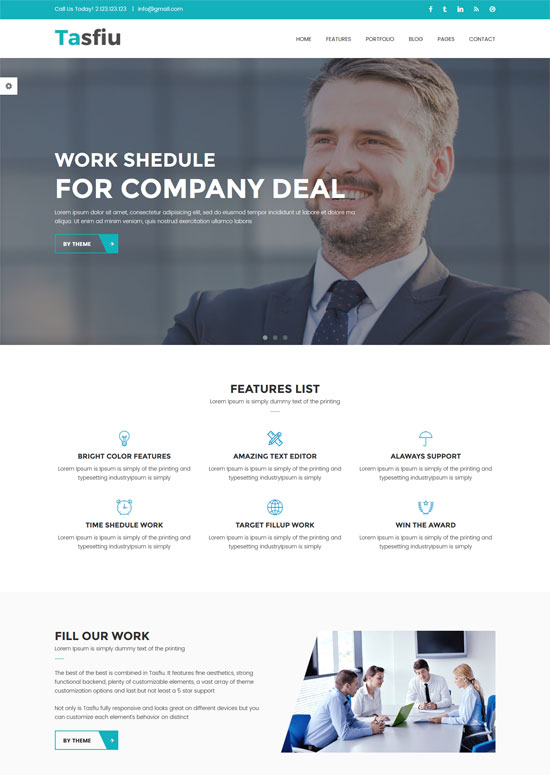 tasfiu business html template
