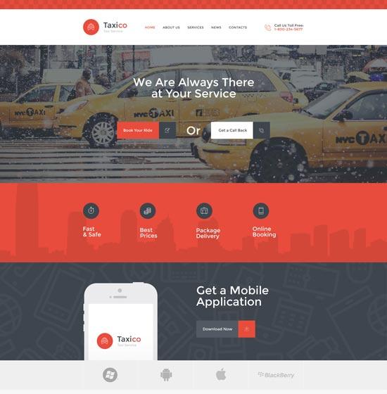 taxico car html website template